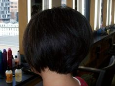 A Perfect Graduated Bob. short-sweet