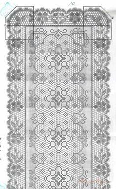 Kira scheme crochet: Scheme crochet no. Filet Crochet Charts, Crochet Diagram, Crochet Motif, Crochet Doilies, Knit Crochet, Crochet Home, Love Crochet, Irish Crochet, Crochet Flower