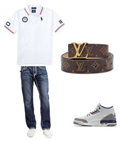 """""""polo louis shyt"""" by sosababy1201 ❤ liked on Polyvore featuring NIKE, True Religion, Louis Vuitton, men's fashion and menswear"""