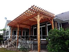 Pergola For Sale Lowes Key: 4401473158 Timber Pergola, Outdoor Pergola, Diy Pergola, Pergola Kits, Outdoor Decor, Pergola Ideas, Pergola Images, Pergola Designs, Free Standing Pergola