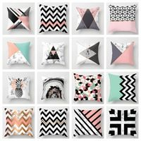 ZENGIA Pink/Green Marble Pillow Case Geometric Polyester Throw Pillows Decorative Cushion Cover For Sofa/Chair/Living Room Cushion Cover Pattern, Blue Cushion Covers, Geometric Cushions, Geometric Pillow, Fall Pillows, Decorative Pillow Cases, Vintage Pillows, Throw Pillow Covers, Decor Pillows