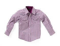 wonderboy plum check western    $58.00