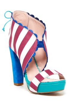 M Missoni Striped Platform Sandal on HauteLook...These would've been the perfect shoes for my wedding @Beck R !