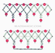 Free pattern for necklace Norma - 2---- u need Seed beads 11/0, Pearl beads 6 mm and 8 mm