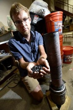 """Josh Kearns is researching use of biochar from simple home-made stoves to treat contaminated groundwater or agricultural runoff.  He is also a winning contestant in Bill Gates' competition for grants to """"reinvent the toilet""""."""