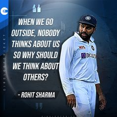 Rohit Sharma asks experts and fans to focus on the cricket and not the pitches. #INDvENG Cricket Quotes, Cricket Sport, Life Changing Quotes, To Focus, Go Outside, Famous Quotes, Pitch, Fans, Baseball Cards