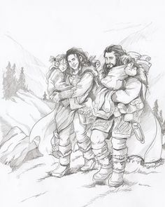 Dis, Thorin, Fili and Kili - http://loobeeinthesky.tumblr.com/page/2