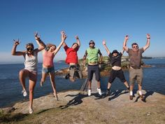 Instructor candidates celebrating after an fantastic day out at Bare Island. Go guys! What a perfect day!