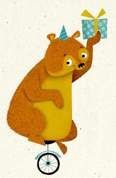 unicycle bear by michael robertson