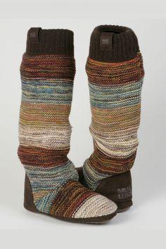Knee high slipper boots