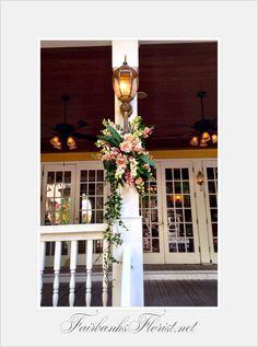 Design by Lana, Fairbanks Florist.net, the courtyard at Lake Lucerne, The Dr. Phillips mansion