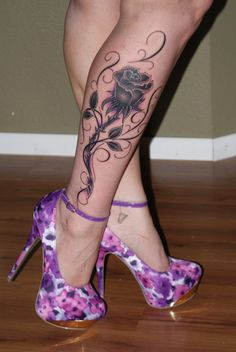 thigh-tattoos-for-black-women-black-rose-leg-tattoo-for-girls