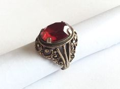 Rare Soviet old Russian Sterling SILVER 875 Ring Artificial