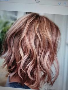 Trendy Hair Color Ideas For Brunettes Cuts Blondes Hair Color Highlights, Red Hair Color, Pink Color, Brown Highlights, Carmel Highlights, Gold Brown Hair, Gold Hair, Ombre Brown, Brown Blonde