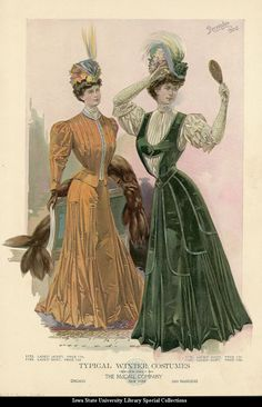 Winter Costumes ~ The McCall Company, December 1906