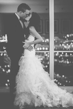 Amazing romantic wedding photo. The bride and groom are SO in love! #wedding #love #bride #groom