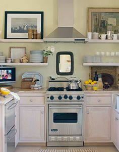 Tiny kitchen with big style in home of California designer Patrick Wade