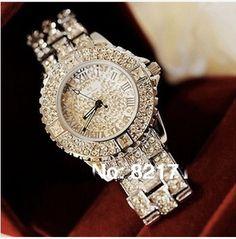 Nuevo 2014 de la alta calidad de cristal austriaco Lujo Mujer Rhinestone reloj de mujer vestido de Relojes Mujer Relojes Mujer regalo nave de la gota en Relojes de Pulsera de Relojes en AliExpress.com   Alibaba Group