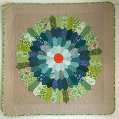 "Ka-Bloom, 51"" x 51"", pieced & quilted by Sofia Locke. Sydney Modern Quilt Guild."
