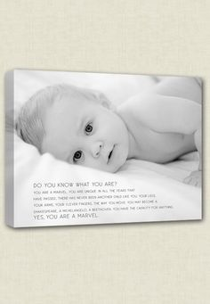 Oh Baby...Childs picture on #canvas with words, sayings by #Geezees