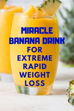 Miracle Banana Drink For Extreme Rapid Weight Loss – Healthy Life Weight Loss Meals, Weight Loss Drinks, Weight Loss Smoothies, Healthy Weight Loss, Weight Loss Tips, Rapid Weight Loss, Extreme Weight Loss, Weight Loss Juice, Weight Loss Shakes