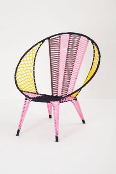 Colorblocked Basket Chair #anthropologie #sale: I just hit up the Anthropologie Labor Day sale and bought this chair.