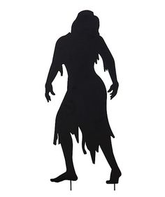 This Living Dead Woman Silhouette Garden Stake is perfect! #zulilyfinds
