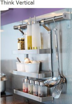 40 Top RV Wheels Kitchen Hacks Makeover and Renovations Tips Ideas to Make Your Road Trips Awesome - Page 22 of 41 - Best Home Decorating Ideas Trailer Storage, Camper Storage, Wall Storage, Kitchen Storage, Storage Ideas, Trailer Decor, Spice Storage, Storage Systems, Creative Storage