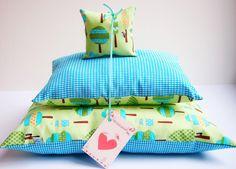"""Puppenbettzeug: """"Spechti"""" von miss rosaly auf DaWanda.com"""
