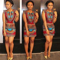 Lovely #dashiki dress ~African fashion, Ankara, kitenge, African women dresses, African prints, Braids, Nigerian wedding, Ghanaian fashion, African wedding ~DKK