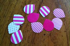 30 Piece Pink Tear Drops by creativedesigncorner on Etsy, $4.00
