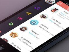 20 Fantastic Examples of Flat UI Design In Apps - Entwurf - Web und App Design - Desings World Ios App Design, Mobile Ui Design, Web Design, Flat Design, Site Design, Dashboard Design, Graphic Design, Design Trends, Application Ui Design