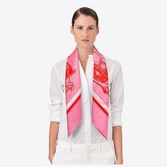 Ex-Libris scarf 90 - worn
