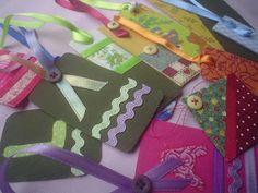 etiquetas - Reciclando tecidos e papel