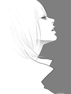 Simple side profile. For learning to draw.