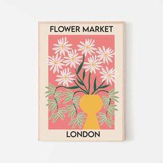 Wall Collage, Wall Art Prints, Poster Prints, Graphic Design Illustration, Illustration Art, Flower Shop Decor, Dorm Art, Flower Market, Botanical Prints