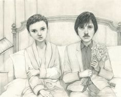 """Where Do You Go To ( My Lovely ) 2013 Graphite on paper 16"""" x 20"""""""