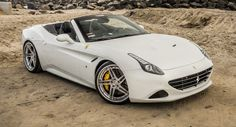 Ferrari California T Hits The Shoreline Wearing Custom Alloys Ferrari Convertible, Ferrari California T, Automotive Manufacturers, Car Car, Drag Racing, Hot Cars, Luxury Cars, Super Cars, Automobile