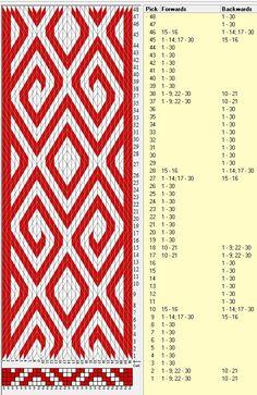 30 tarjetas, 2 colores, repite cada 36 movimientos // sed_389 diseñado en GTT༺❁