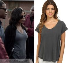 Shots Fired: Season 1 Episode 8 Ashe's Grey V Neck Shots Fired, Sanaa Lathan, Rock Bottom, Ash Grey, V Neck Tee, Season 1, Whisper, Basic Tank Top, T Shirts For Women