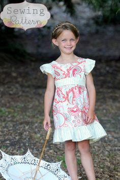 INSTANT DOWNLOAD0 Phoebe Dress (Size 12/18 months to Size 8) PDF Sewing Pattern and Tutorial