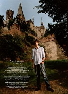 CASUAL KINGDOM Prince Ernst August of Hanover, photographed by Philipp von Hessen at Marienburg Castle, near Hanover, Germany, in June 2003....