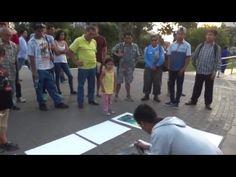 NO VAS A CREER LO QUE HACE ESTE JOVEN | Arte en las calles | Video increible 2016 - YouTube