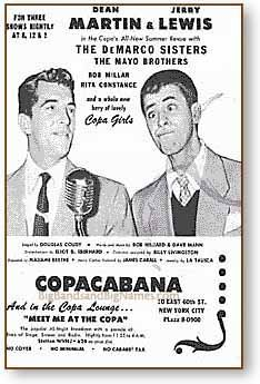 July 24, 1956 – At New York City's Copacabana Club, Dean Martin and Jerry Lewis perform their last comedy show together (their act started on July 25, 1946).