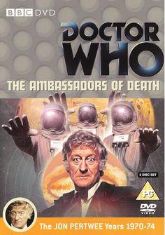 110). The Ambassadors of Death. Starring Jon Pertwee as the Doctor, Caroline John as Liz and Nicholas Courtney as the Brigadier with John Levene as Benton