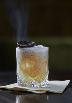 Ampicillin. Smoky and fresh-creamy artisanal cocktail made by Curfew Cocktail Bar, Copenhagen.