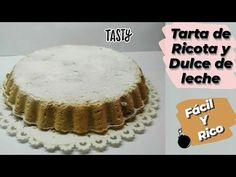 TARTA DE RICOTA CON DULCE DE LECHE 🇦🇷😍 3 Simples pasos - YouTube Pie, Desserts, Youtube, Food, Sweets, Cooking, Ricotta Pie, Dulce De Leche, Essen