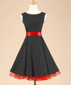 Black and White Polka Dot Vintage Dress