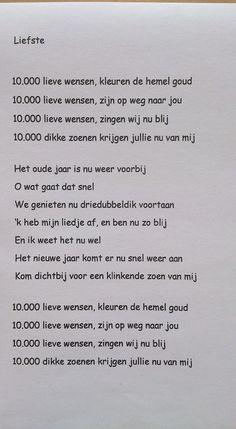 leuke brief op melodie van liedje K3 10000 luchtballonen.