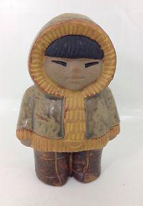 Vintage Gustavsberg Lisa Larsson Figurine Eskimo / Inuit - Mid Century Sweden | eBay